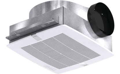 Picture of Bathroom Exhaust Fan, Low Profile, Model SP-B150, 115V, 1Ph, 92-160 CFM