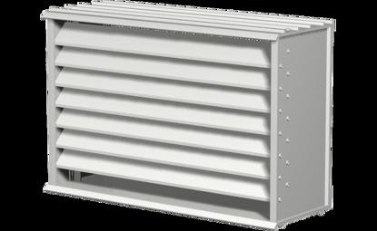 Picture of Extruded Aluminum Brick Vent, 8 In Sq