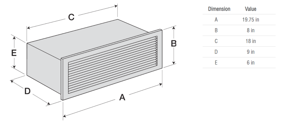 Picture of Wall Louvered Discharge (Model WL-18x6)
