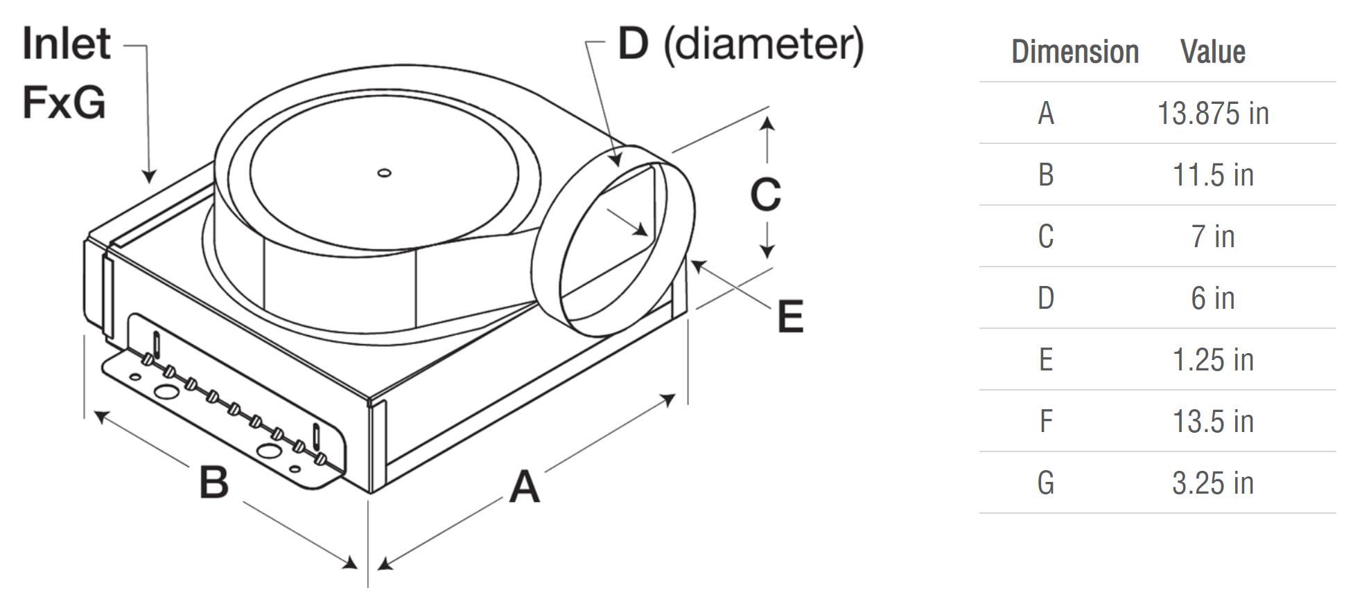 Picture of Inline Cabinet Fan, Model CSP-B200, 115V, 1 Ph, 161-186 CFM