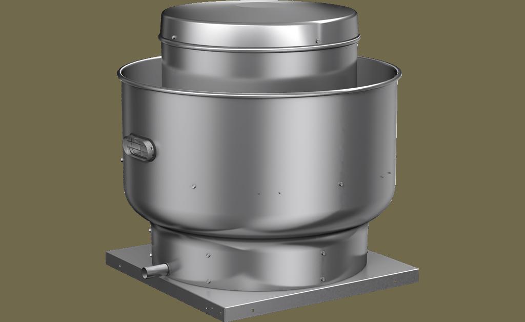 Picture of Centrifugal Upblast Exhaust Fan, Model CUBE-099, Belt Drive, 1/4HP, 115V, 1Ph, 759-1260 CFM