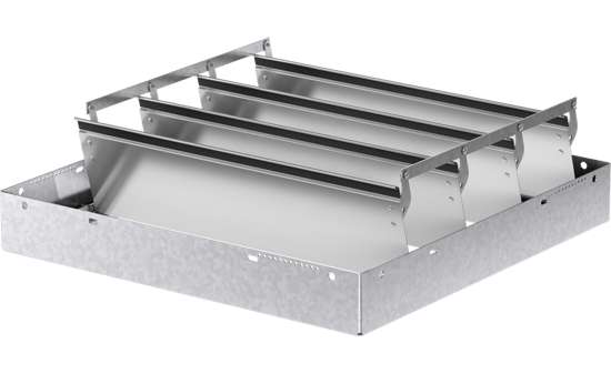 Picture of Backdraft damper, horizontal mount, Model WD-100, 24 In Sq, No Flange