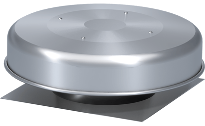 Picture of Spun Aluminum Gravity Ventilator with Flashing Flange, Size 12, Model GRSF-12