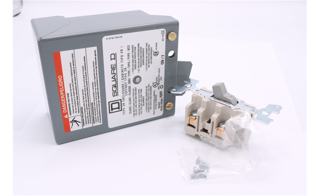 Picture of Disconnect Switch, NEMA-3R Weatherproof, 2 Pole, Single Throw, Up to 2HP, 120/230V, Single Phase