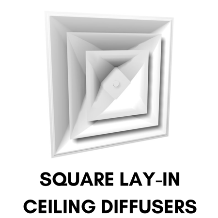 Picture for category Square Lay-in Ceiling Diffusers