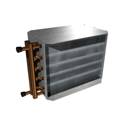 """Picture of Hot Water Reheat Coil (1 Row for 24"""" x 16"""" SDV)"""